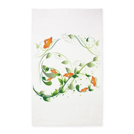 California Poppies 3'x5' Area Rug