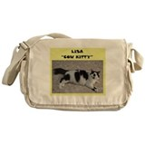 Lisa cow kitty Messenger Bag
