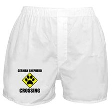 German Shepherd Crossing Boxer Shorts