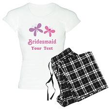 Personalized Bridesmaid (butterflies) Pajamas