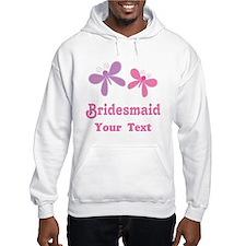 Personalized Bridesmaid (butterflies) Hoodie