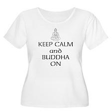 Keep Calm and Buddha On Plus Size T-Shirt