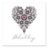 "Love Shelby Square Car Magnet 3"" x 3"""