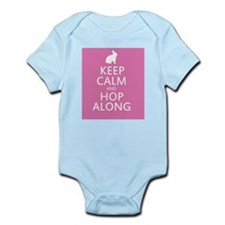 Keep calm and hop along for easter Body Suit