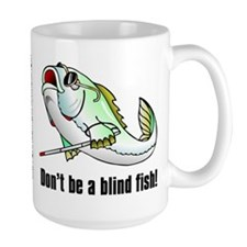 Blind Fish large mug (15 oz)