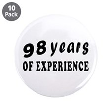"98 years birthday designs 3.5"" Button (10 pack)"