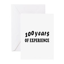 100 years birthday designs Greeting Cards (Pk of 1