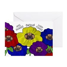 Doggy Flowers Greeting Cards (Pk of 10)