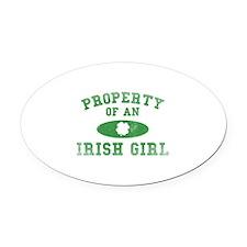 Property Of An Irish Oval Car Magnet