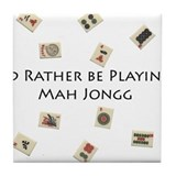 Cute Mahjong Tile Coaster