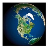 Earth - Square Car Magnet 3