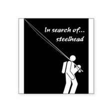 """In Search Of Steelhead"" Rectangle Sticker"