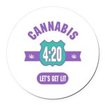Cannabis 420 Round Car Magnet