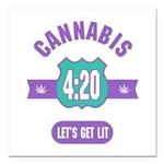 Cannabis 420 Square Car Magnet 3