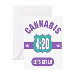 Cannabis 420 Greeting Card
