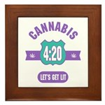 Cannabis 420 Framed Tile