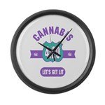 Cannabis 420 Large Wall Clock