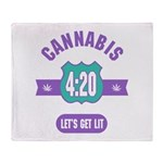 Cannabis 420 Throw Blanket