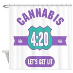 Cannabis 420 Shower Curtain