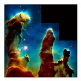 Gas pillars in Eagle Nebula - Square Car Magnet 3