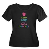 Keep calm and eat a cupcake Women's Plus Size Scoo