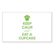 Keep calm and eat a cupcake Decal