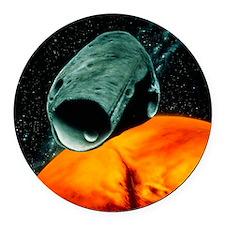 ian moon Phobos - Round Car Magnet