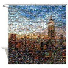 New York Mosaic Shower Curtain