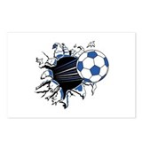 Soccerball Ripping Through Postcards (Package of 8