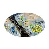 Graffiti - Oval Car Magnet