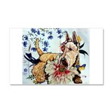 Garden Wheaten Scottie Car Magnet 20 x 12