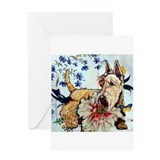 Garden Wheaten Scottie Greeting Card