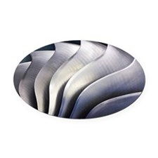 S-curve fan blades - Oval Car Magnet