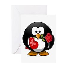 Lovely Valentine Penguin Greeting Card