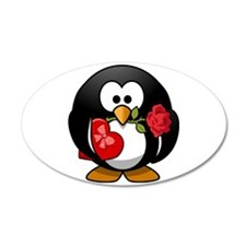 Lovely Valentine Penguin Wall Decal