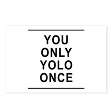 You Only Yolo Once Postcards (Package of 8)