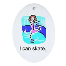 """I Can Skate"" Ceramic Ornament"