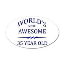 World's Most Awesome 35 Year Old Wall Decal