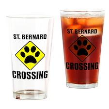 St. Bernard Crossing Drinking Glass