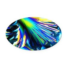 Melting ice crystals - Oval Car Magnet
