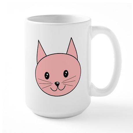 Cute pink cat face mug by metarla3 for Animal face mugs