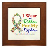 Nephew Autism Ribbon Framed Tile