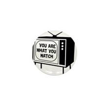 Cute Anti television Mini Button