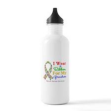 Grandson Autism Ribbon Water Bottle