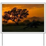 Dawn over Namibian landscape - Yard Sign