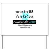 Autism Awareness Square Yard Sign