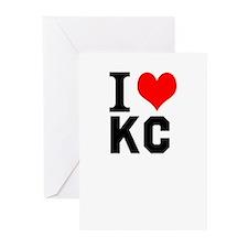 I Heart Kansas City Greeting Cards (Pk of 10)