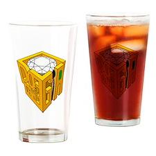 GIA white diamond green stone Drinking Glass