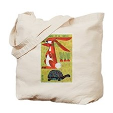 Vintage The Tortoise and the Hare Matchbox Label T