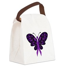 Fibromyalgia Awareness Canvas Lunch Bag
